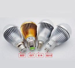 Lampadina a sfera dimmable online-Le vendite al dettaglio TRASPORTO LIBERO ad alta potenza Cree 9W12W15W dimmerabile Led lampadina del globo lampada della sfera Bubble E27 GU10 B22 110-240V LED riflettore principale luce