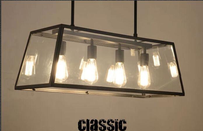 discount edison bulb denpant l& black metal in glass light box 4 & Unique 4 Bulb Kitchen Light Fixture - Taste azcodes.com