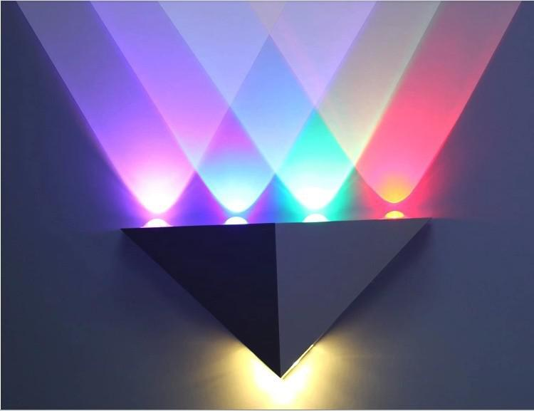 2018 Pure Aluminum Wall Lamp Led Power Triangle Transparent