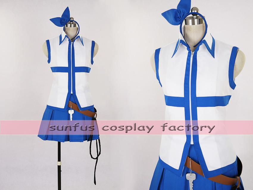HOT Anime Fairy Tail Lucy Heartfilia cosplay costume Halloween wizard outfit - Hot Anime Fairy Tail Lucy Heartfilia Cosplay Costume Halloween