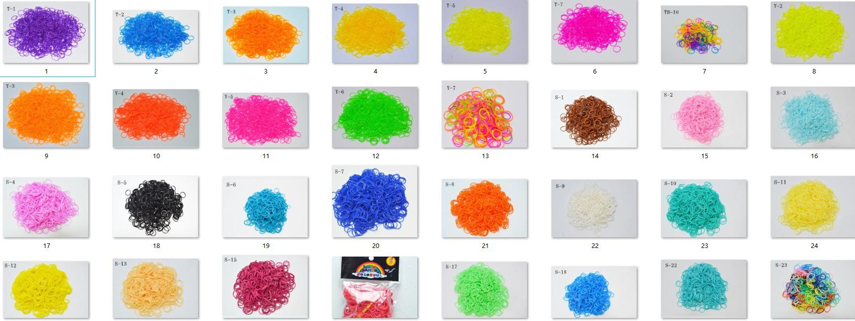 Pick UP 32Colors Rainbow Loom Bands Refill Kit DIY Wrist Bands Dual Color Bracelet for kids ( 600 pcs bands + 24 pcs C or S clips )