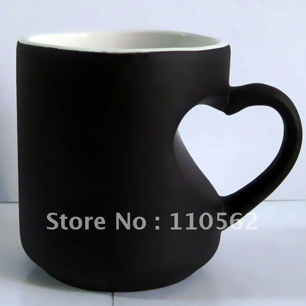 Personalized Heart Coffee With Changing Mug Wholesale Shaped Cup Handle Color MSUVzpq