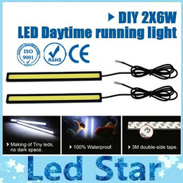Wholesale Daytime Running Driving - Ultra Bright 6W 17cm Silver Black Shell Daytime Running light 100% Waterproof COB Day time Lights LED Car DRL Driving Lamp