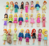 Wholesale Female Figures - Free shippingNew Popular Set 12pcs Cute Polly Pockets girl lady female Doll figures Mixed assortment