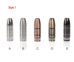 Wholesale drip tips black - Hot Selling Black bullet drip tip coppery bullet mouthpiece silvery metal drip tips for CE4 CE6 Vivi Nova Rad Evod DCT Electronic Cigarette