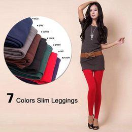Wholesale Women Warm Skinny Pants - Fashion Women Warm Winter Skinny Slim Leggings Stretch Pants Thick Footless free shipping
