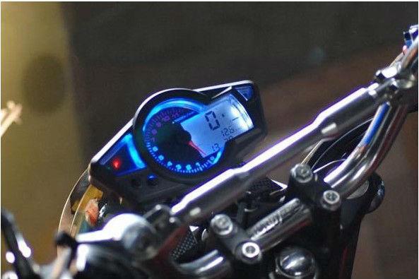 2018 Universal Lcd Blue Backlight Digital Speedometer