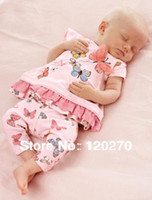Wholesale Next Dresses - Wholesale-Free Shipping Summer NEXT Baby Girls Butterfly T-shirt Dress Shorts Pants Infant Toddler Two-Piece Suits Children's Outfits Sets
