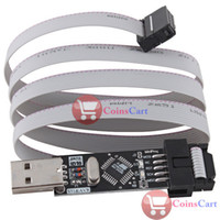 Wholesale Usbasp Pin - [Coins Cart] USBASP ISP Programmer Adapter 10 Pin Cable For ATMega8 AVRDude CAN PWM Series wholesale