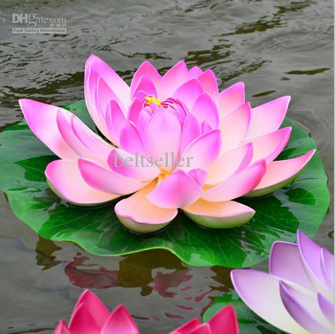 2019 29cm Artificia Silk Lotus Flower Floating Water Flower Pool