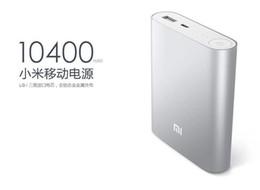 Wholesale External Battery For Blackberry - Original External Battery xiaomi power bank 10400mAh xiaomi 10400 portable powerbank Charger for xiaomi hongmi iphone alibear