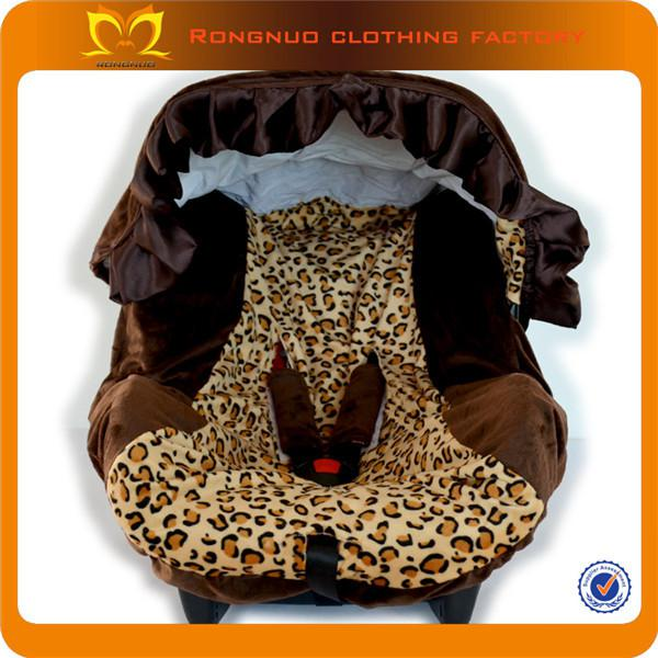 Wholesale-leopard Print Brown Fluffy Baby Safety Seat Covers Canopy ...
