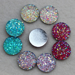 Wholesale Scrapbooking Beads Resin - 200PCS 12MM AB Color Round Resin Rhinestones flatback Beads Scrapbooking crafts Jewelry Accessories