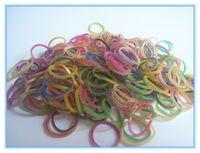 Wholesale Loom Dual - Retail DIY rubber bands loom kit colourful loom bands dual layer band gold&blue rubber bands DIY bracelets for kids( 300pcs bag)