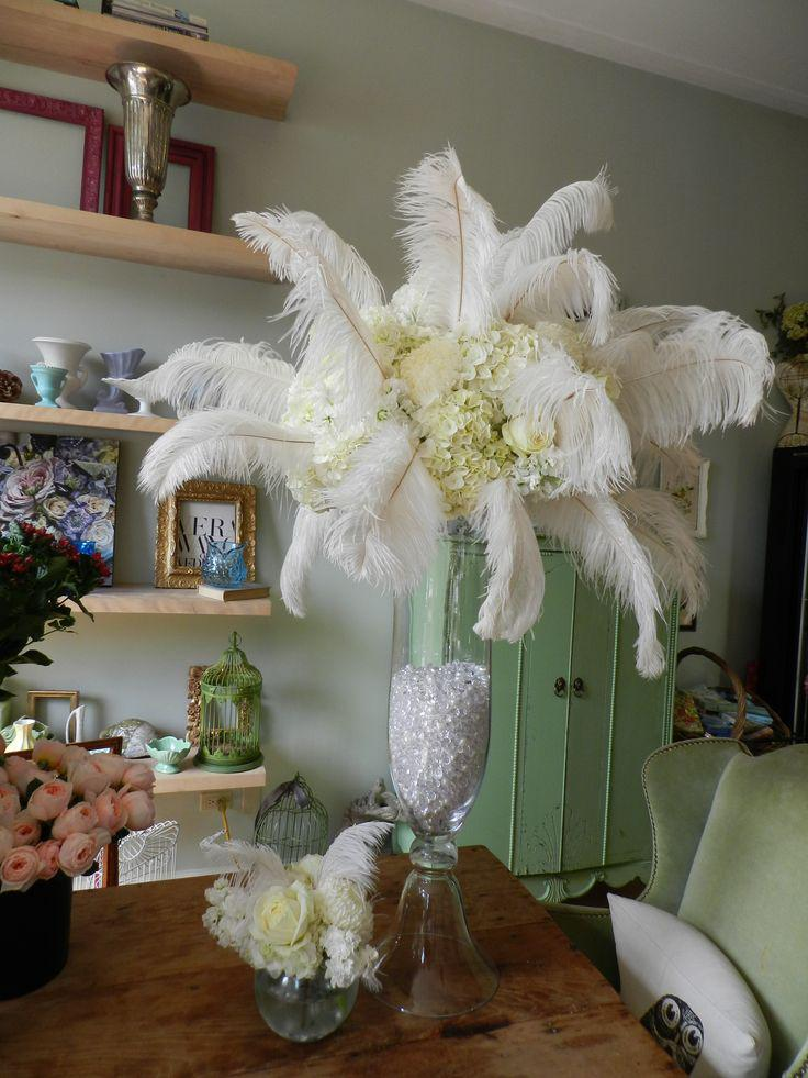 Ostrich feather plumes white for wedding decor centerpiece ostrich feather plumes white for wedding decor centerpiece decoraction party event supply festive decor supply ostrich feather ostrich plumes wedding junglespirit Choice Image
