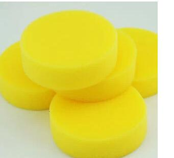 best selling (120 pieces lot ) Wholesale Washing Cleaning Towel Sponge for car car waxing sponge round small sponge
