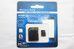 Wholesale Micro Tf Card 16g - 60pcs lot DHL Class 10 64GB Micro SD TF Memory Card Class 10 With Adapter 16G Class 10 TF Memory Cards with Free SD Adapter Retail Package