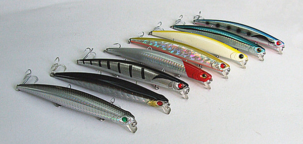 13.5cm 21g Fishing Lure Minnow Type Bait Sea Fishing Tackle Casting Lure Hard Plastic Bait China Hook