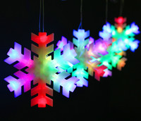 Wholesale Led Flashing Snowflake - Snowflake LED lantern string \ wedding, windows, decorative \ curtain background light \ Christmas decoration light 220g