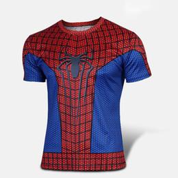 2 pièces noir et rouge Spider Man Compression sous la couche de base Vêtements de sport Course à pied T-shirts Collants Coupe Slim ? partir de fabricateur