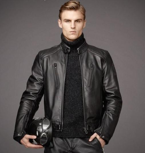 2017 New Spring Autumn High Grade Quality Leather Jackets Men ...