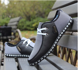 Wholesale Mens Blue Casual Loafer Shoes - 2014 new Korean Casual shoes England style Fashion Mens Breathable Sneakers Fitness Sport running shoes Loafers net shoes