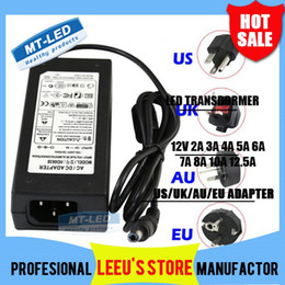 Wholesale Led Ac Adapter 12v - By DHL LED switching power supply 110-240V AC DC 12V 2A 3A 4A 5A 6A 7A 8A 10A 12.5A Led Strip light 5050 3528 transformer adapter lighting