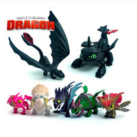 Wholesale Toy Trains Drop Shipping - 9%off!in stock Cartoon Night Fury toothless Aberdeen! Cartoon How to Train Your Dragon Plush doll toys DROP SHIPPING!hot sale,21pcs lot,ZF