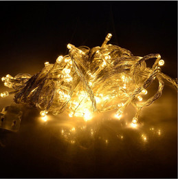 Wholesale Wedding Decoration Promotions - Christmas LED String Light -Promotion Top Quality!10pcs 9 colors 10m 100Led Xmas Led Christmas Wedding Party Decoration Lights 110V 220V