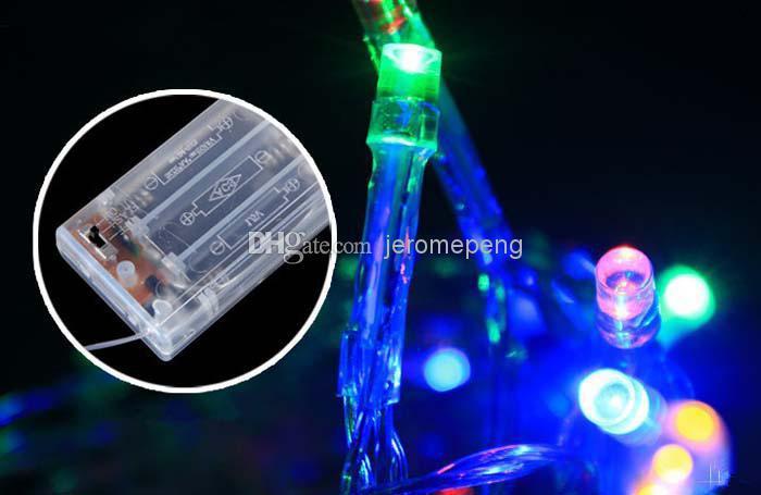 cheap new 2m 3m 4m 5m led string mini fairy lights 3xaa battery operated whitewarm whiteblueyellowgreenpurplepink christmas ligh exterior string - Battery Operated Mini Christmas Lights