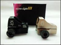Wholesale Reflex Free - Docter sight III Reflex holographic sight pistol gun scope Mini Red Dot Sight Auto Brightness Weaver Rail Mount 20mm free shipping
