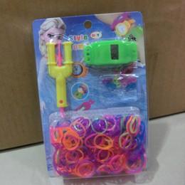 Wholesale Loom Toys - Frozen colourful rubber rainbow Loom band DIY bracelets Watch kit Anna Elsa bracelet Christmas gift toy for children hy3275