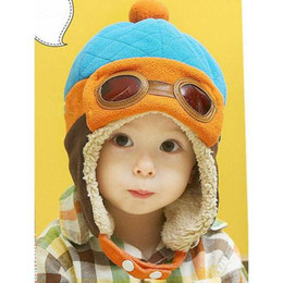 Wholesale Winter Earmuffs - Baby Kids New Earmuffs Pilot Cap Hot Warm Toddler Children Aviator Earflap Hat