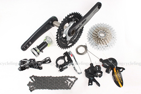 SLX M670 MTB Groupset Group Set 10-speed 7pcs cranks fixed gear bike Crankset & Bottom Bracket &Derailleur &Cassette for shimano