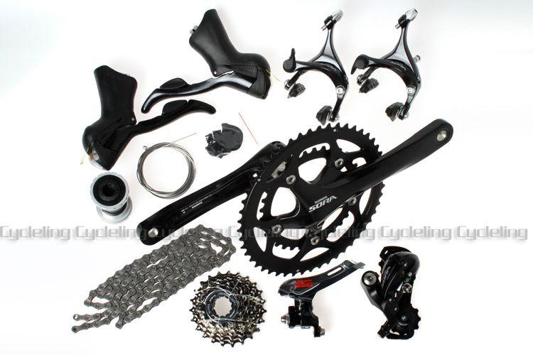 07fa8c94c58 2019 Sora 3500 9 Speed Road Bike Groupset Group Set 2x9 Speed Shift And  Brake Levers & Derailleur & Crankset Black For Shimano From Kepiwell8, ...