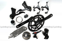 Wholesale Sora Speed Road Bike Groupset Group Set x9 speed shift and brake levers derailleur crankset Black for shimano