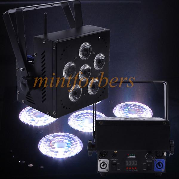 Alimentado por batería Par light DMX Batería inalámbrica RGBAW + UV 6 colores en 1 Up-Light