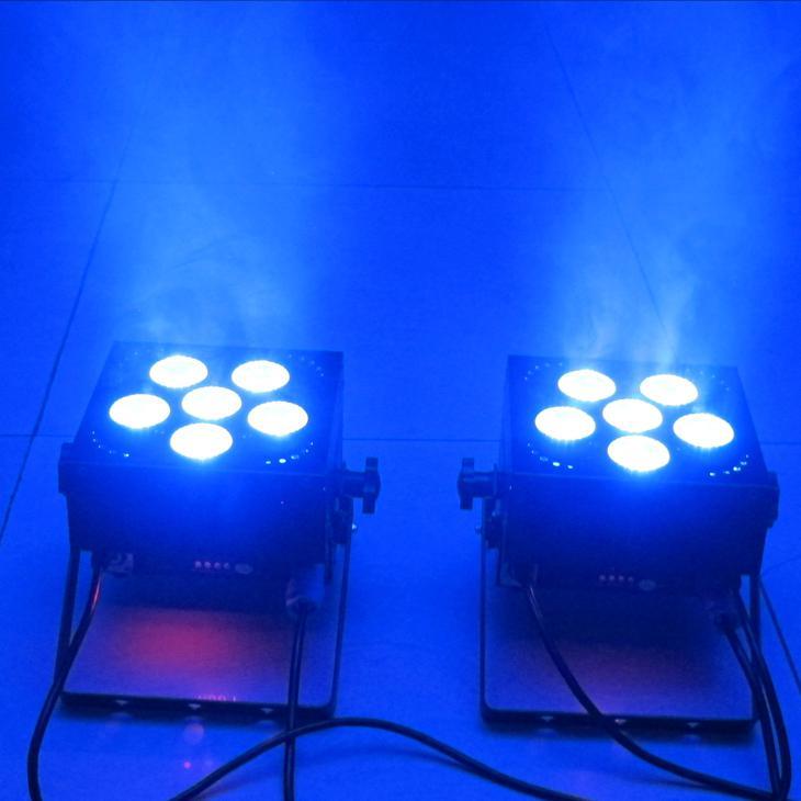 Alimentado por batería Par light DMX Batería inalámbrica RGBAW + UV es en 1 Up-Light