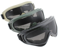 Wholesale Tactical Glasses Nets - Tactical Net Metal Mesh Eyes Protection Wind Goggle Glasses X400 for Paintball Airsoft Outdoor Sports black