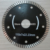 """Wholesale Granite Tile Wholesalers - 3 PCS lot 4.5"""" turbo blade 115mm ultra thin 1.2mm thick cutting disc for ceramic tile and granite . FREE SHIPPING!"""