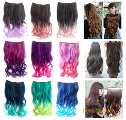 Discount multi colored hair extensions 2018 multi colored hair long curly hair extension multi colored nwg0he60814 pmusecretfo Images