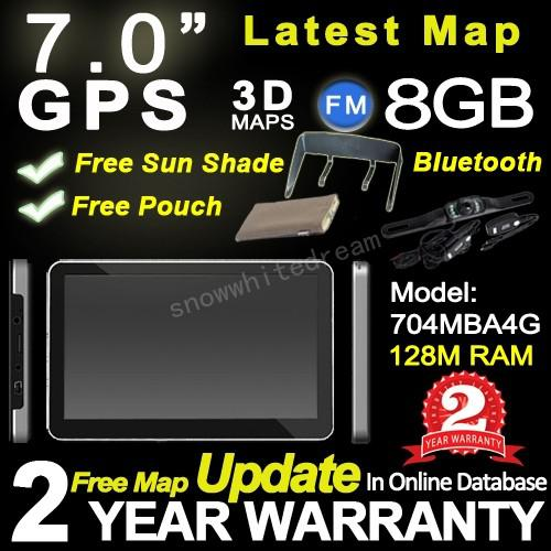 2015 Newest Model 7'' HD car gps navigation System with 8G,BT,AV IN,FM+Wiresless reverse camera+Free 3D maps+Free Gifts+2 Years Warranty