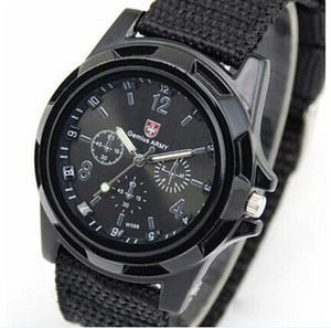 Wholesale Cool Gemius Mens Watches Army Racing Force Military Sport For Men Fabric Band Knight Watch Sports Canvas Gemius army Nylon Watches