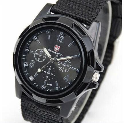 Cool Gemius Mens Watches Army Racing Force Military Sport For Men Fabric Band Knight Watch Sports Canvas Gemius army Nylon Watches