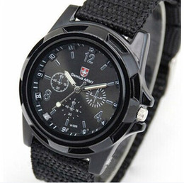 Wholesale Cool Military Watches - Cool Gemius Mens Watches Army Racing Force Military Sport For Men Fabric Band Knight Watch Sports Canvas Gemius army Nylon Watches