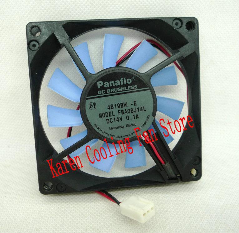 Neue Original FBA08J14L 14 V 0,1 A 80 * 80 * 15 MM Computer lüfter
