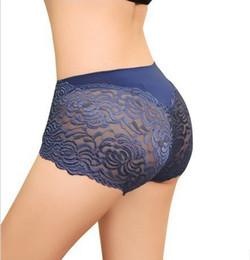 Femme sexy culotte bleue en Ligne-Sexy Dentelle Hollow Out Panties Femmes, Sous-vêtements Femmes Dames Slips, Lingerie Sexy Intim Undies Intime Bleu, Noir, Rose PT3