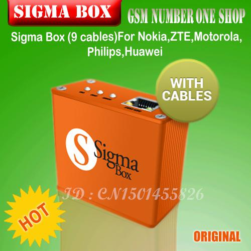 Wholesale - price 100% original Sigma Box with 9 cables Unlock&Repair&Flash Mobile Phone sigma box with 9 cables DHL Free shipping