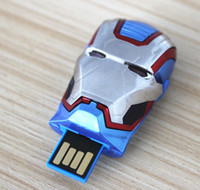 Wholesale Iron Man Flash Drive 256gb - 256GB 128GB 64GB IRON MAN& CAPTAIN AMERICA USB 2.0 Flash Drive   Memory Stick With LED EYE SHENZHEN supplier memorygeek metal case packaging