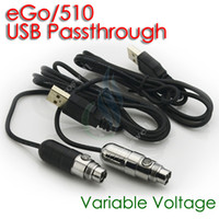 Wholesale Ce5 Vv Passthrough Battery - Mini ego vv USB Passthrough Battery USB Variable Voltage Ecig Battery 3.0-4.8V for ce4 ce5 protank mt3 atomizer